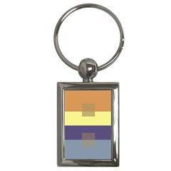 Color Therey Orange Yellow Purple Blue Key Chains (rectangle)