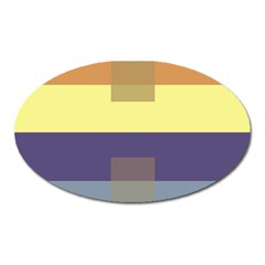 Color Therey Orange Yellow Purple Blue Oval Magnet