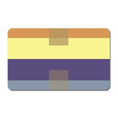Color Therey Orange Yellow Purple Blue Magnet (rectangular)