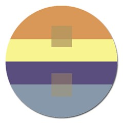 Color Therey Orange Yellow Purple Blue Magnet 5  (round)