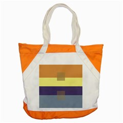 Color Therey Orange Yellow Purple Blue Accent Tote Bag