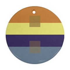 Color Therey Orange Yellow Purple Blue Round Ornament (Two Sides)