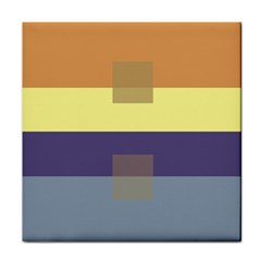 Color Therey Orange Yellow Purple Blue Face Towel