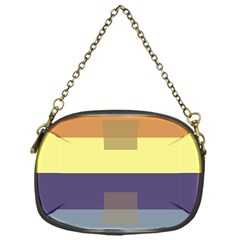 Color Therey Orange Yellow Purple Blue Chain Purses (One Side)