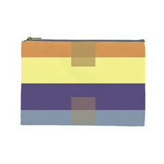 Color Therey Orange Yellow Purple Blue Cosmetic Bag (large)