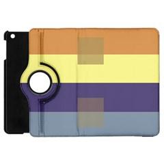 Color Therey Orange Yellow Purple Blue Apple iPad Mini Flip 360 Case