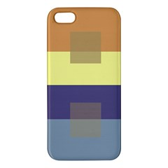 Color Therey Orange Yellow Purple Blue iPhone 5S/ SE Premium Hardshell Case