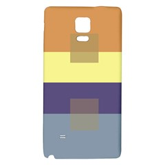 Color Therey Orange Yellow Purple Blue Galaxy Note 4 Back Case