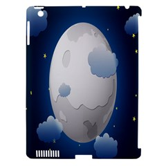 Cloud Moon Star Blue Sky Night Light Apple iPad 3/4 Hardshell Case (Compatible with Smart Cover)
