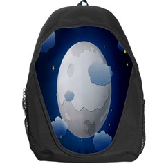 Cloud Moon Star Blue Sky Night Light Backpack Bag