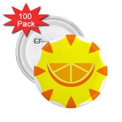 Citrus Cutie Request Orange Limes Yellow 2 25  Buttons (100 Pack)