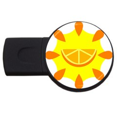 Citrus Cutie Request Orange Limes Yellow USB Flash Drive Round (4 GB)