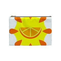 Citrus Cutie Request Orange Limes Yellow Cosmetic Bag (Medium)
