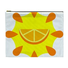 Citrus Cutie Request Orange Limes Yellow Cosmetic Bag (XL)