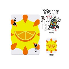 Citrus Cutie Request Orange Limes Yellow Playing Cards 54 (Mini)