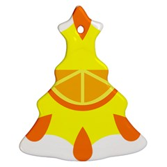 Citrus Cutie Request Orange Limes Yellow Christmas Tree Ornament (Two Sides)