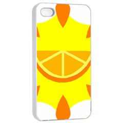 Citrus Cutie Request Orange Limes Yellow Apple iPhone 4/4s Seamless Case (White)