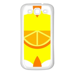 Citrus Cutie Request Orange Limes Yellow Samsung Galaxy S3 Back Case (White)