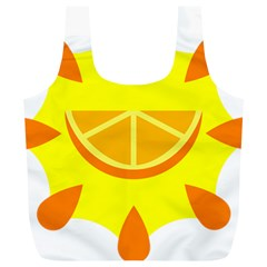 Citrus Cutie Request Orange Limes Yellow Full Print Recycle Bags (L)