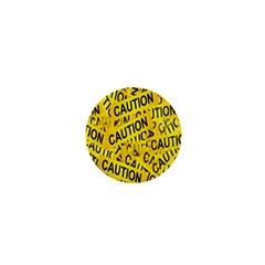 Caution Road Sign Cross Yellow 1  Mini Buttons