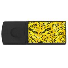 Caution Road Sign Cross Yellow Usb Flash Drive Rectangular (4 Gb)