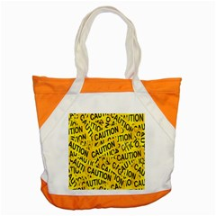 Caution Road Sign Cross Yellow Accent Tote Bag