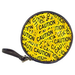 Caution Road Sign Cross Yellow Classic 20-CD Wallets