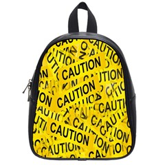 Caution Road Sign Cross Yellow School Bags (small)