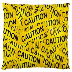 Caution Road Sign Cross Yellow Large Cushion Case (One Side)
