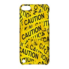 Caution Road Sign Cross Yellow Apple iPod Touch 5 Hardshell Case with Stand