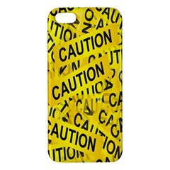 Caution Road Sign Cross Yellow Apple iPhone 5 Premium Hardshell Case
