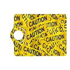 Caution Road Sign Cross Yellow Kindle Fire HD (2013) Flip 360 Case