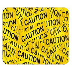 Caution Road Sign Cross Yellow Double Sided Flano Blanket (Small)