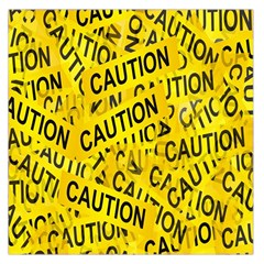Caution Road Sign Cross Yellow Large Satin Scarf (Square)