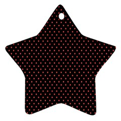Colored Circle Red Black Ornament (star)
