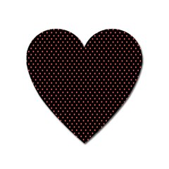 Colored Circle Red Black Heart Magnet