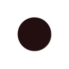 Colored Circle Red Black Golf Ball Marker (10 pack)