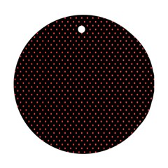 Colored Circle Red Black Round Ornament (Two Sides)