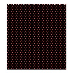 Colored Circle Red Black Shower Curtain 66  x 72  (Large)