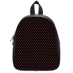 Colored Circle Red Black School Bags (Small)