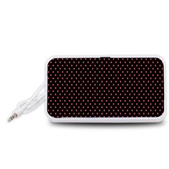 Colored Circle Red Black Portable Speaker (White)