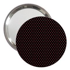 Colored Circle Red Black 3  Handbag Mirrors