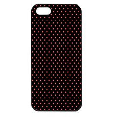 Colored Circle Red Black Apple iPhone 5 Seamless Case (Black)