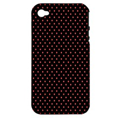 Colored Circle Red Black Apple Iphone 4/4s Hardshell Case (pc+silicone)