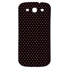 Colored Circle Red Black Samsung Galaxy S3 S III Classic Hardshell Back Case
