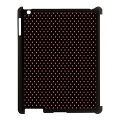 Colored Circle Red Black Apple iPad 3/4 Case (Black)