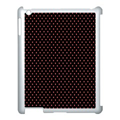 Colored Circle Red Black Apple iPad 3/4 Case (White)