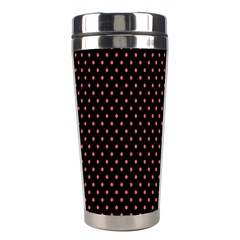 Colored Circle Red Black Stainless Steel Travel Tumblers