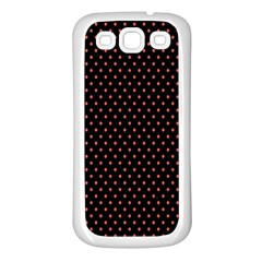 Colored Circle Red Black Samsung Galaxy S3 Back Case (White)