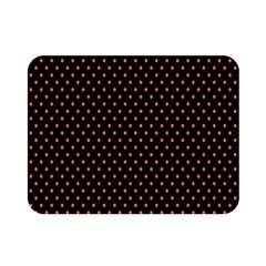 Colored Circle Red Black Double Sided Flano Blanket (Mini)